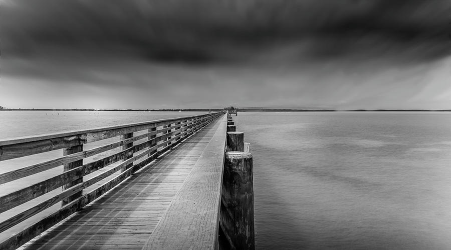 Water Photograph - Dunedin Pier by Todd Rogers