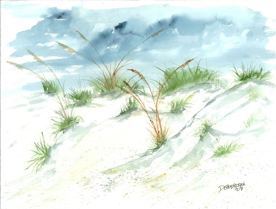 Beach Painting - Dunes 3 Seascape Beach Painting Print by Derek Mccrea