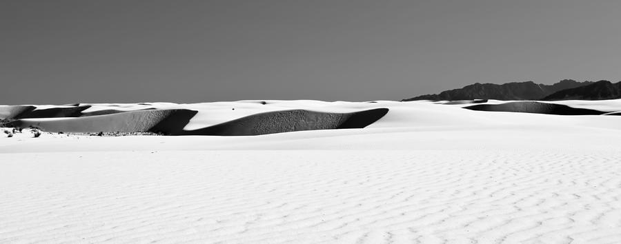 White Sands Photograph - Dunes And Mountains Four by Paul Basile