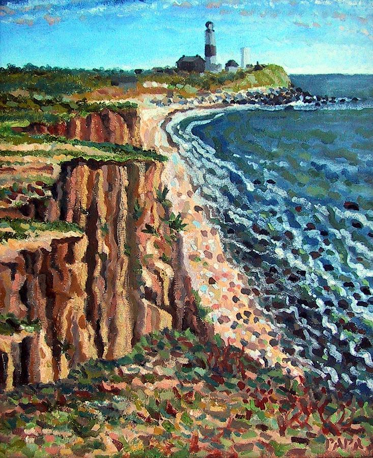 Dunes Painting - Dunes at Montauk by Ralph Papa