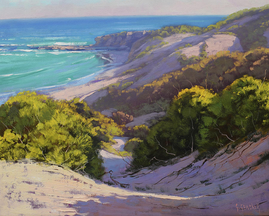 Nature Painting - Dunes At Soldiers Beach by Graham Gercken