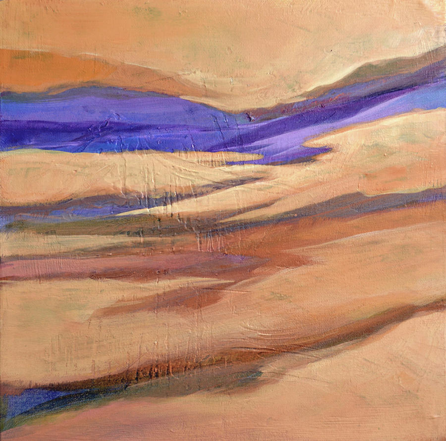 Desert Painting - Dunes by Filomena Booth