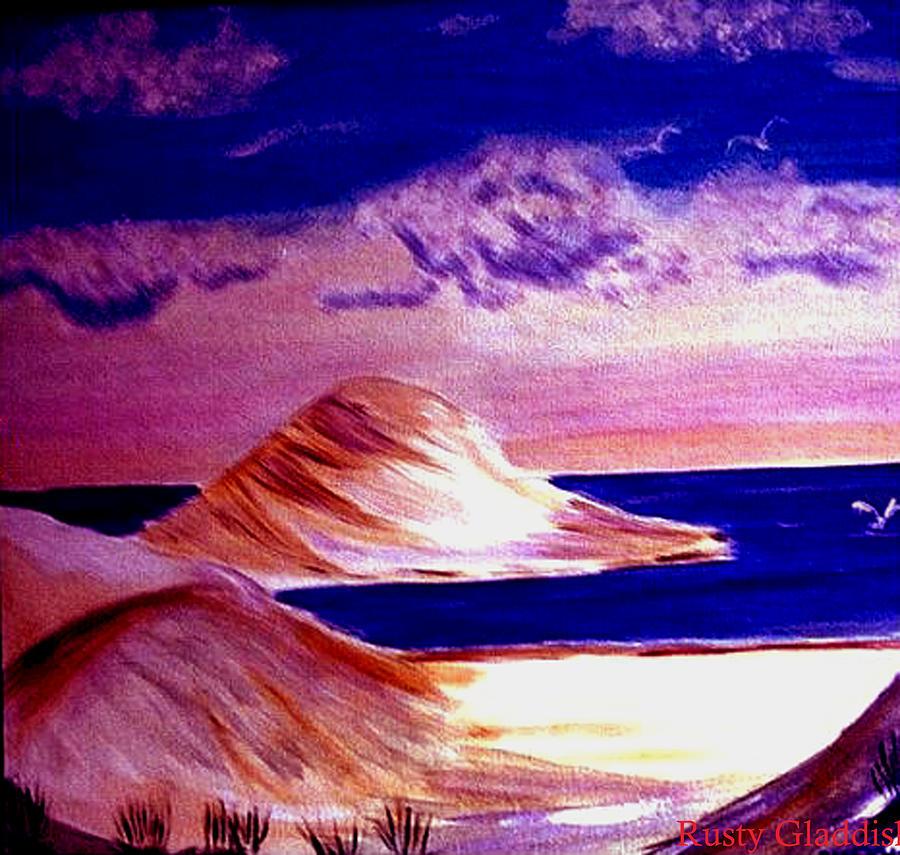 Sand Dunes Painting - Dunes by Rusty Gladdish