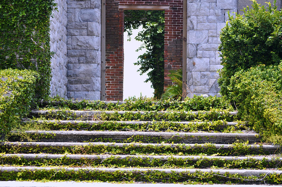 Cumberland Island Photograph - Dungeness Front Steps  by Debra White