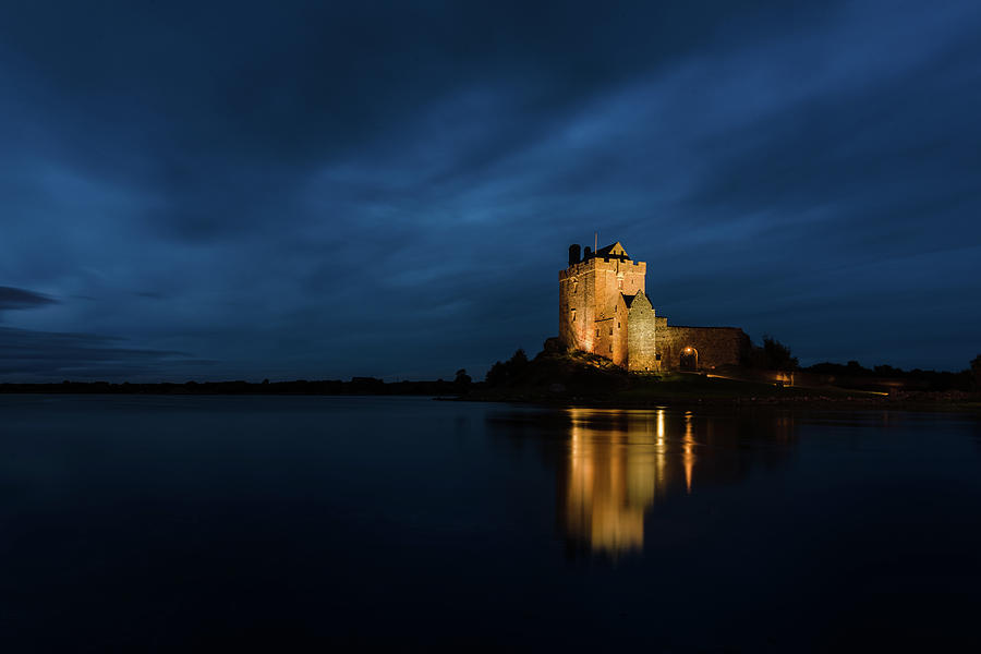 Dunguaire Castle At Night Photograph By Slawomir Gawryluk