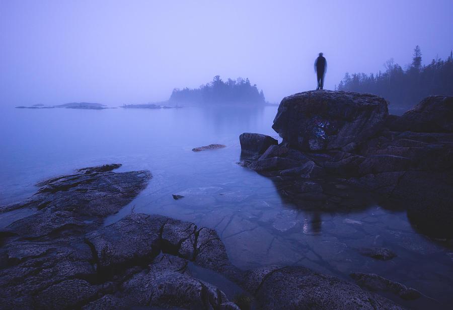 Landscape Photograph - Dunks Point At Sunrise by Cale Best