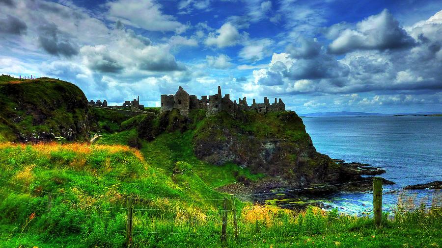 Dunluce Castle Photograph - Dunluce Castle by Kim Shatwell-Irishphotographer