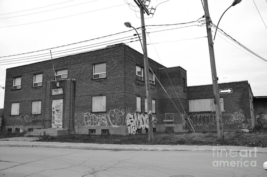 Abandoned Buildings Photograph - Dunn Street Montreal by Reb Frost