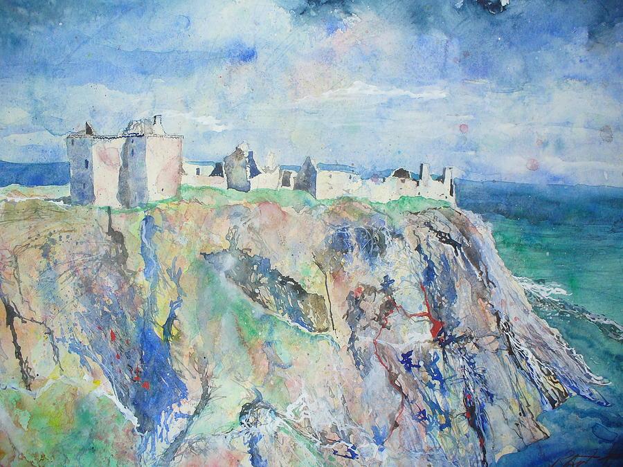 Dunnottar Castle Painting - Dunnottar Castle Stonehaven by Robert Hogg