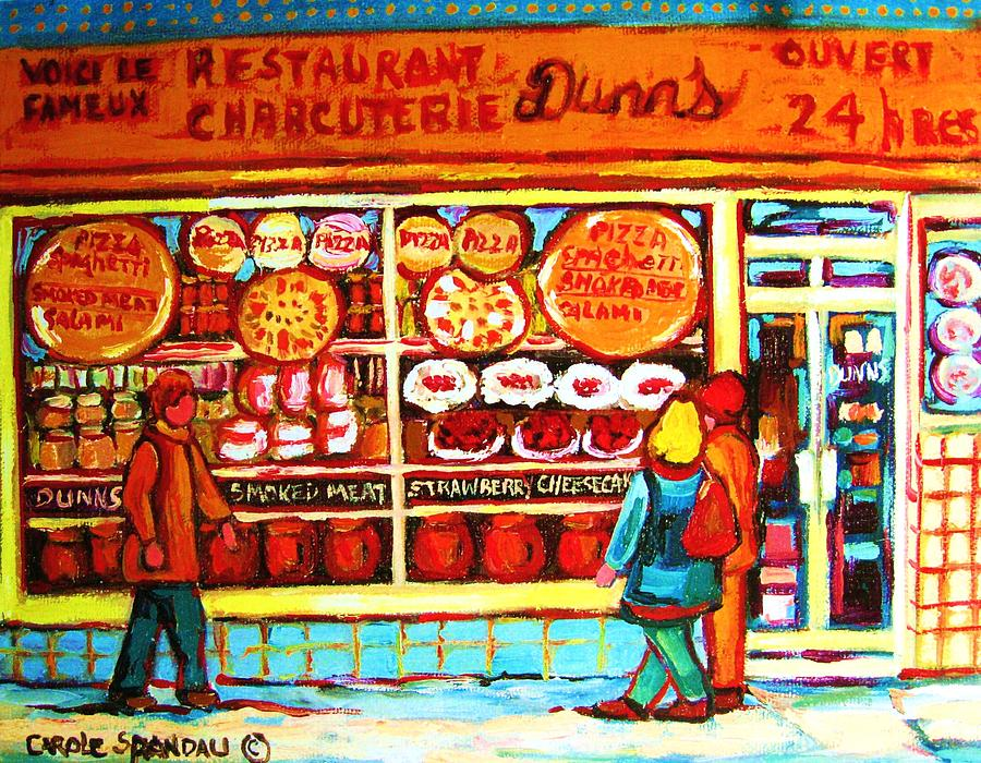 Montreal Painting - Dunns Treats And Sweets by Carole Spandau