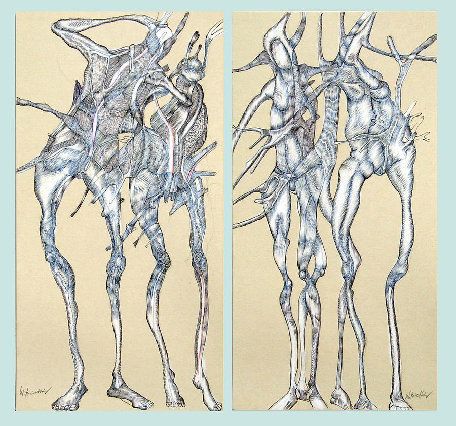 Figures Drawing - Duoblepair by Wolfgang - bookwood - Buchholz