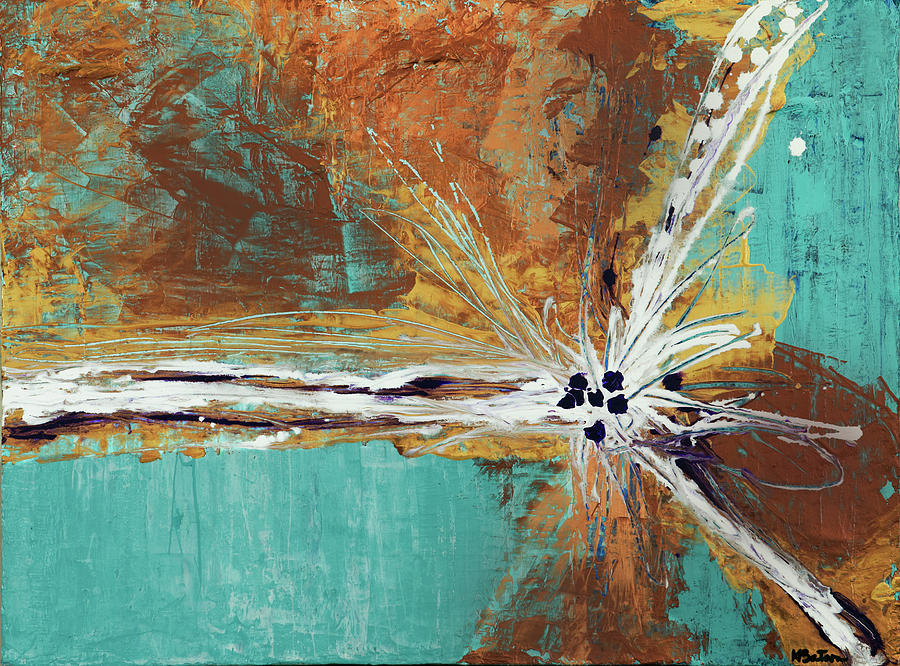 Abstract Painting - Duplication by K Batson Art