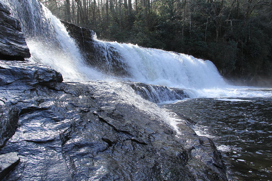 Waterfall Photograph - Dupont Forest Hooker Falls by Allen Nice-Webb