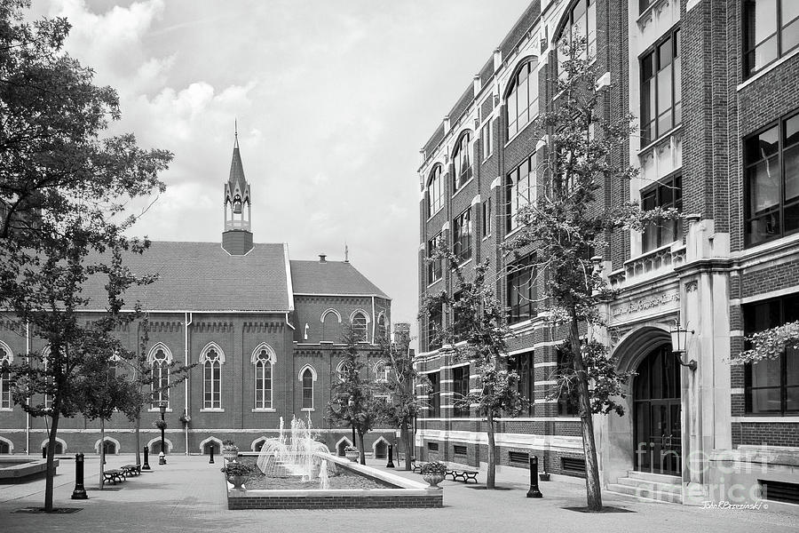 Catholic Photograph - Duquesne University Chapel And Canevin Hall by University Icons