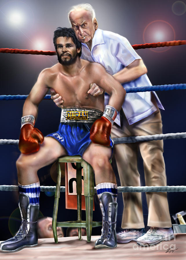 Roberto Duran Painting - Duran Hands Of Stone 1a by Reggie Duffie