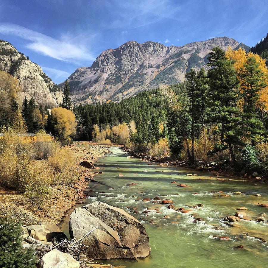 Durango and Silverton Railway in Fall by Elizabeth Rose