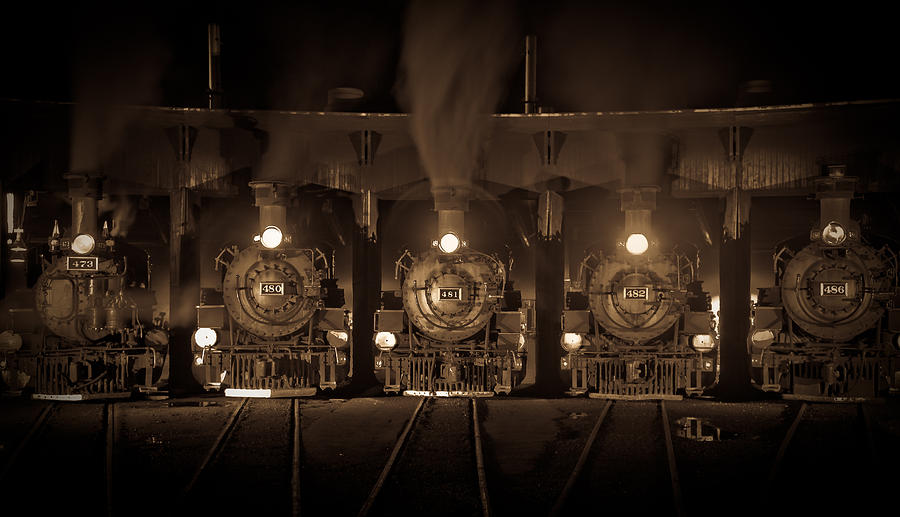 Trains Photograph - Durango Roundhouse by Patrick  Flynn