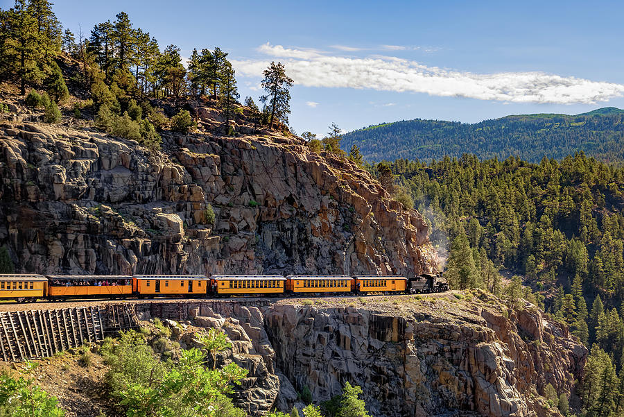 Durango-Silverton DSNG Narrow Gauge Railroad Train - Colorado by Gregory Ballos