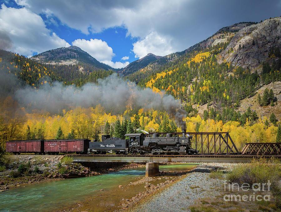 America Photograph - Durango-silverton Twin Bridges by Inge Johnsson