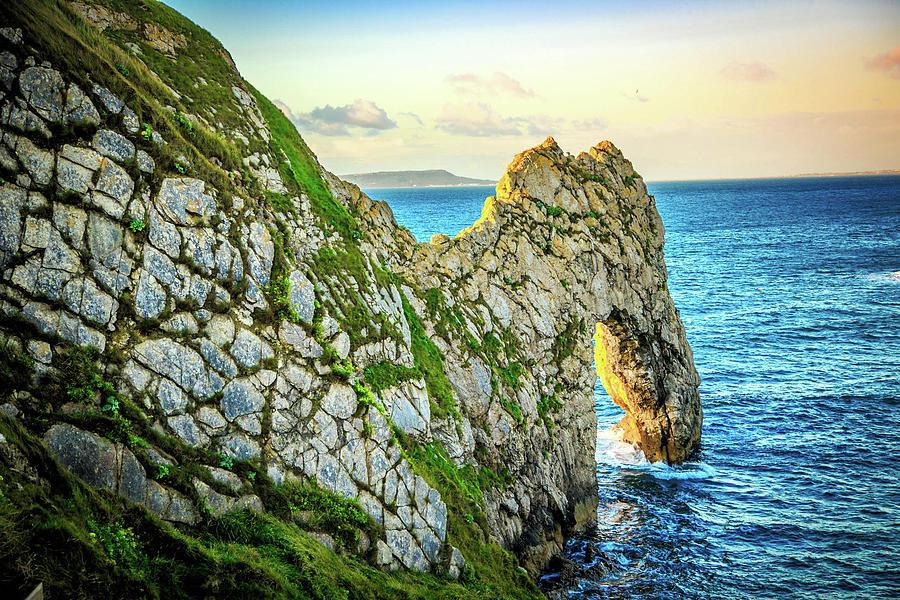 Ocean Photograph - Durdle Dore - Ocean Rock Formation by Dan Pearce