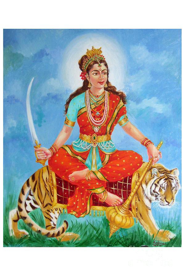Durga Devi Painting - Durga Devi  by Kalpana Talpade Ranadive