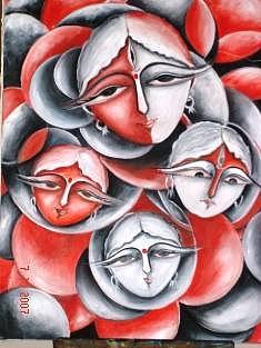 Spirtuality Painting - Durga by Dr Ruchi Vidyarthi