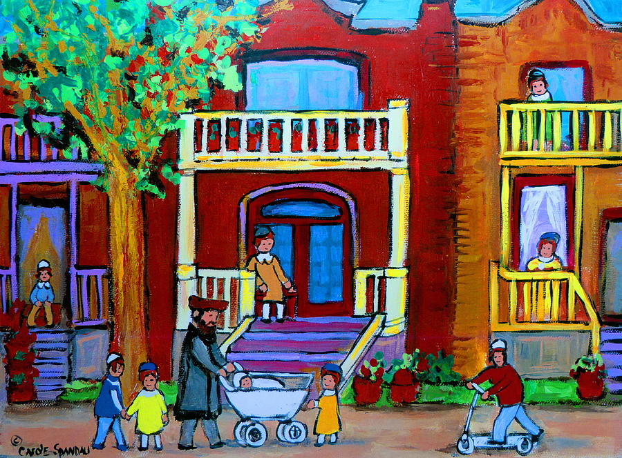 Judaica Painting - Durocher Street Montreal by Carole Spandau