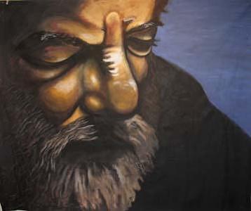 Dusk Painting - Dusk 7x9 Feet by Meat-Jeffery Paul Gadbois