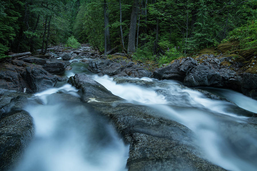Washington Photograph - Dusk at Desception Falls // North Cascade National Park, Washington by Kirsten Dale