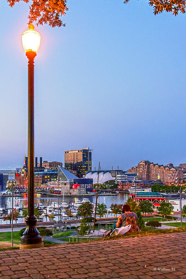 2d Photograph - Dusk At Federal Hill by Brian Wallace