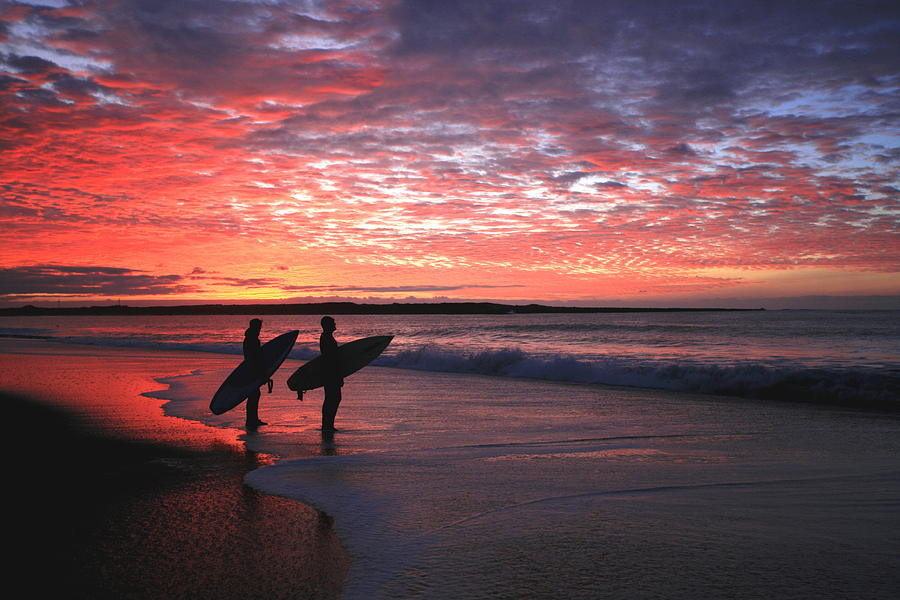 Sunset Photograph - Dusk At Halfmoon Bay by Mike Coverdale
