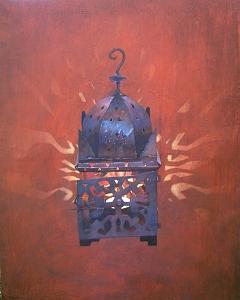 Dusk At Jemma El Fna Marakech Painting by Angus McEwan