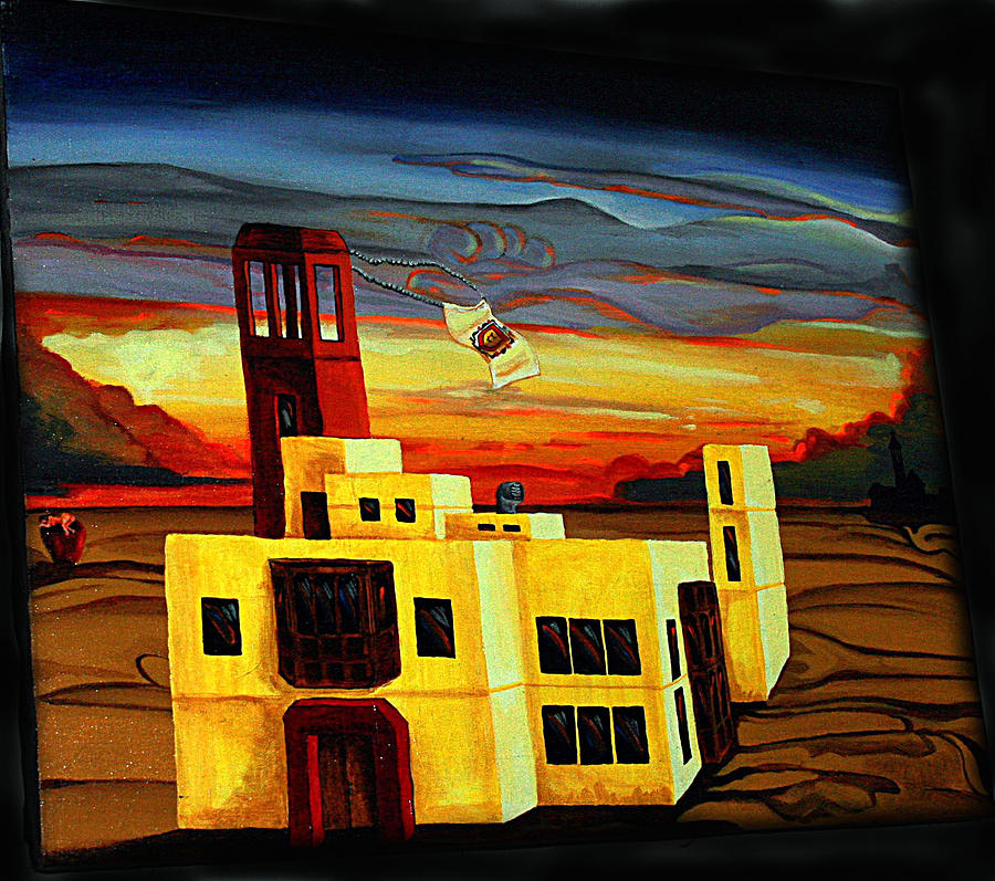 House Painting - Dusk At My Dream House by Carlos Osorio