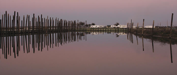 Nature Photograph - Dusk At The Old Docks by Kelley Swinney