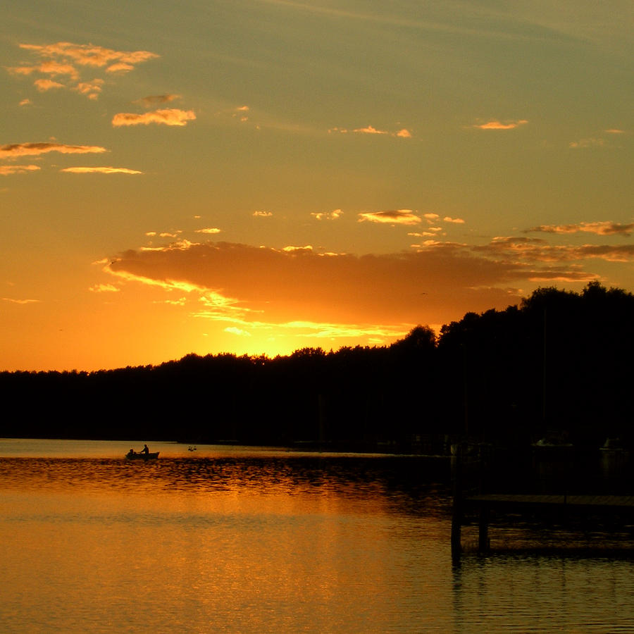 Sunset Photograph - Dusk by Katarzyna Horwat