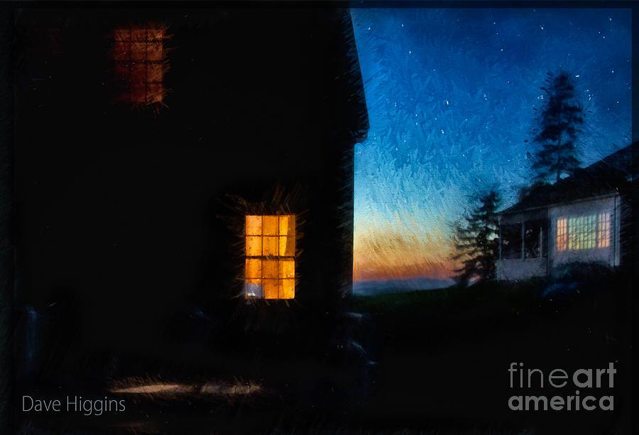 Dave Higgins Digital Art - Dusk, Monhegan Island, Maine by Dave Higgins