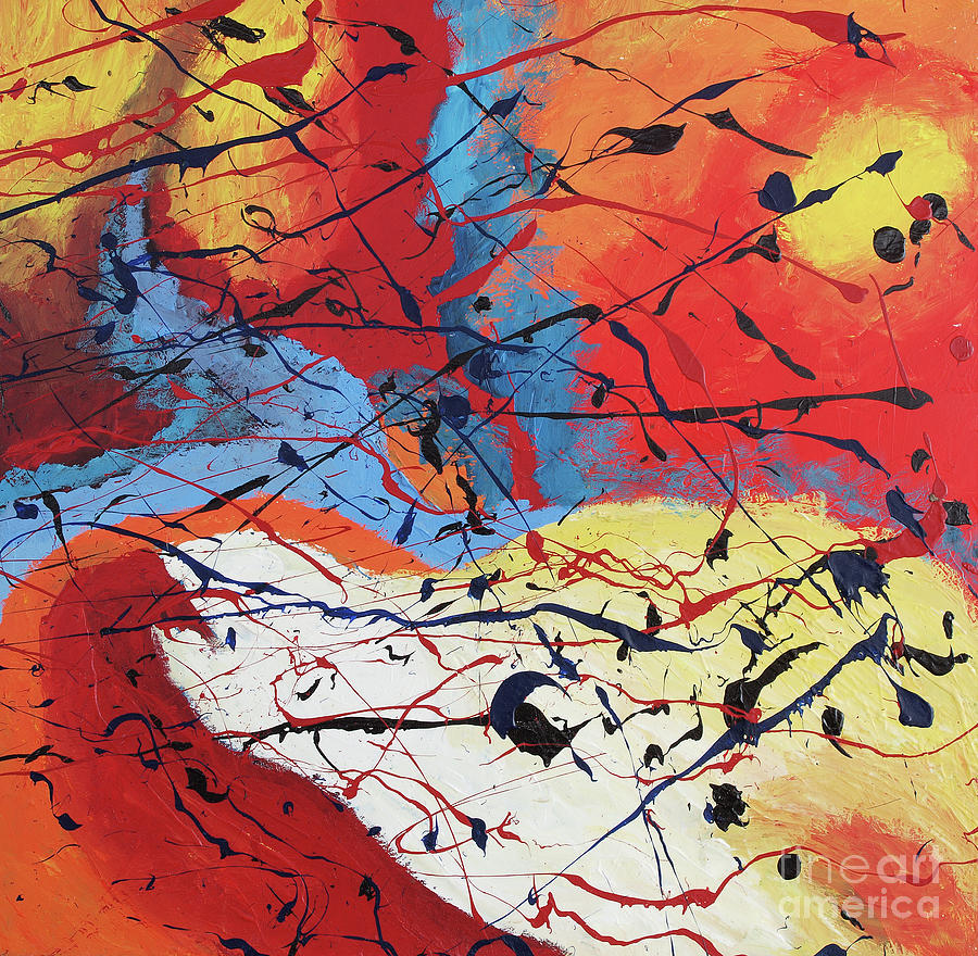 Abstract Painting - Dusk by Nickola McCoy-Snell