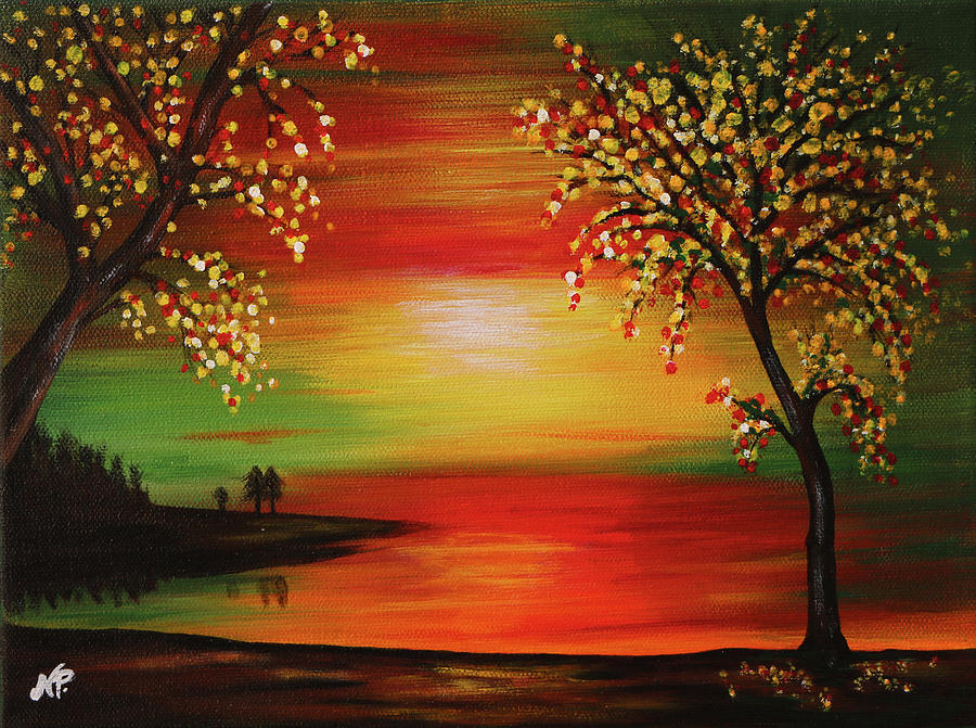 Nature Painting - Dusk by Nicole Paquette