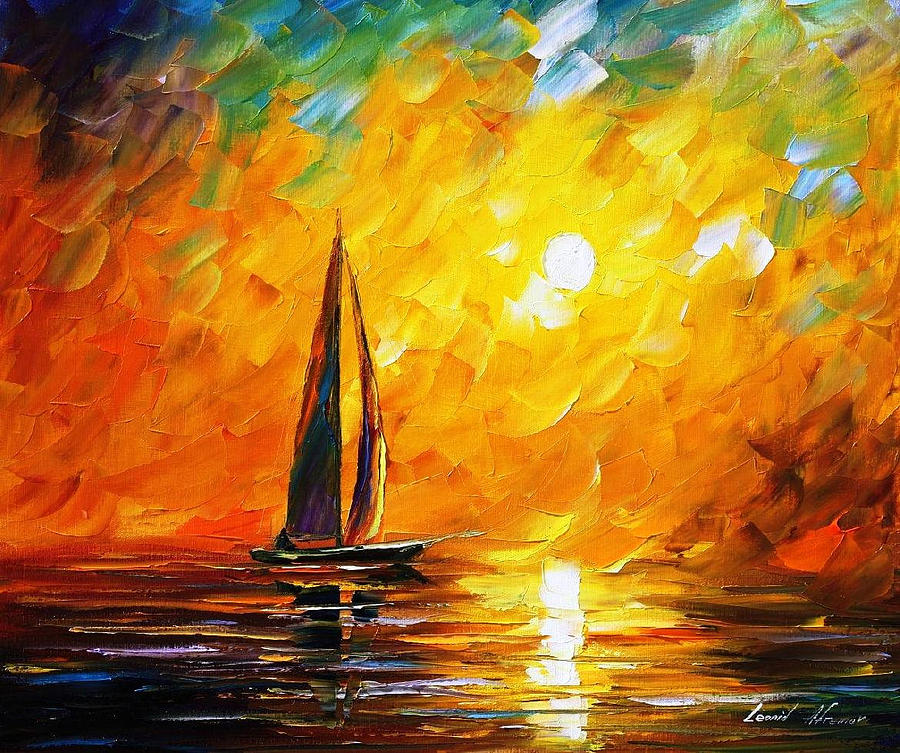 Dusk Of Nature Palette Knife Oil Painting On Canvas By