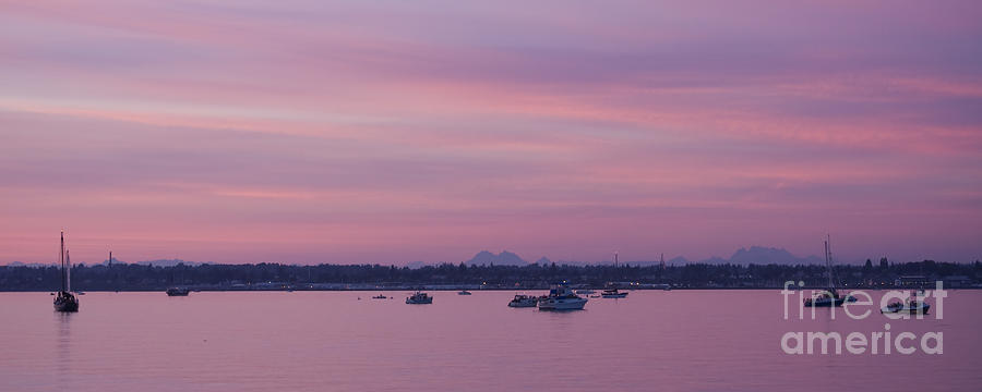 Lavender Photograph - Dusk On The Bay by Idaho Scenic Images Linda Lantzy