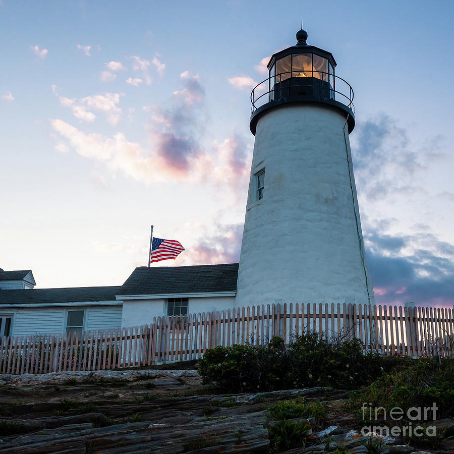 Dusk, Pemaquid Lighthouse, Bristol, Maine #60384 by John Bald
