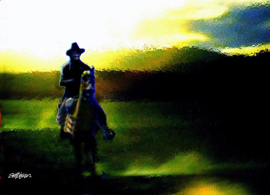 Dusk Digital Art - Dusk Rider by Seth Weaver