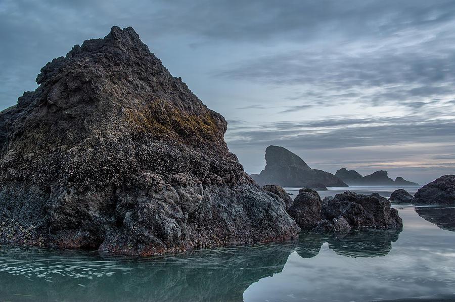 Oregon Photograph - Dusk Settles Over Myers Beach by Greg Nyquist