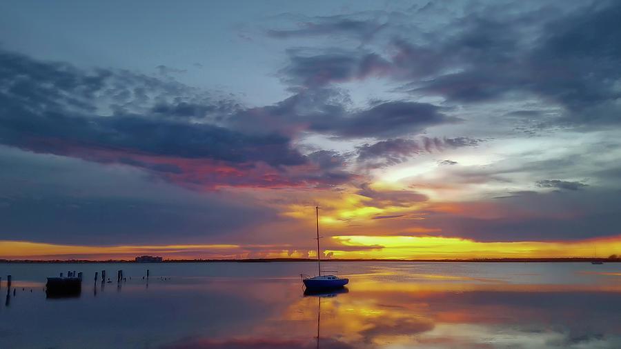Dunedin Marina Photograph - Dusk Til Dawn by Todd Rogers