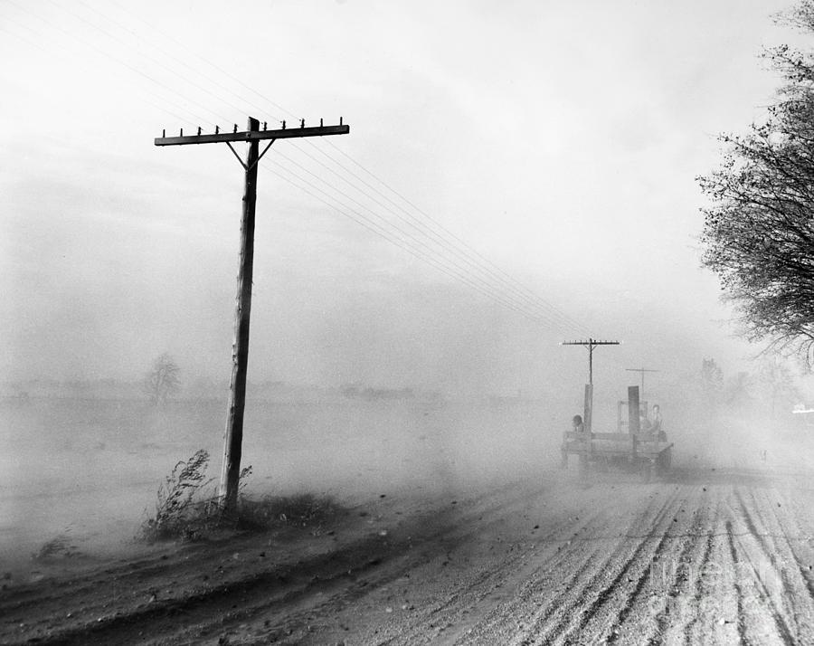 1936 Photograph - Dust Bowl, C1936 by Granger