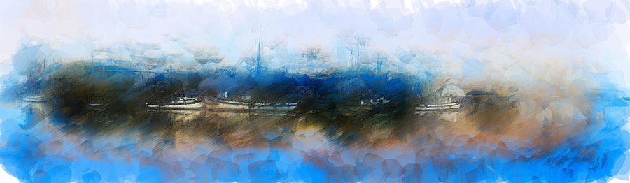 Artwork Digital Art - Dusted Shremp Creek by Jon Glaser