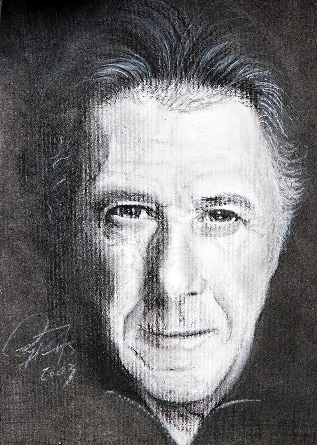 Charcoal Painting - Dustin Hoffman by Raymond Potts