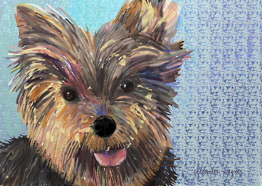 Dog Digital Art - Dusty by Arline Wagner