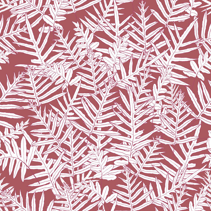 Dusty Cedar Ferns Sketch by Karen Dyson