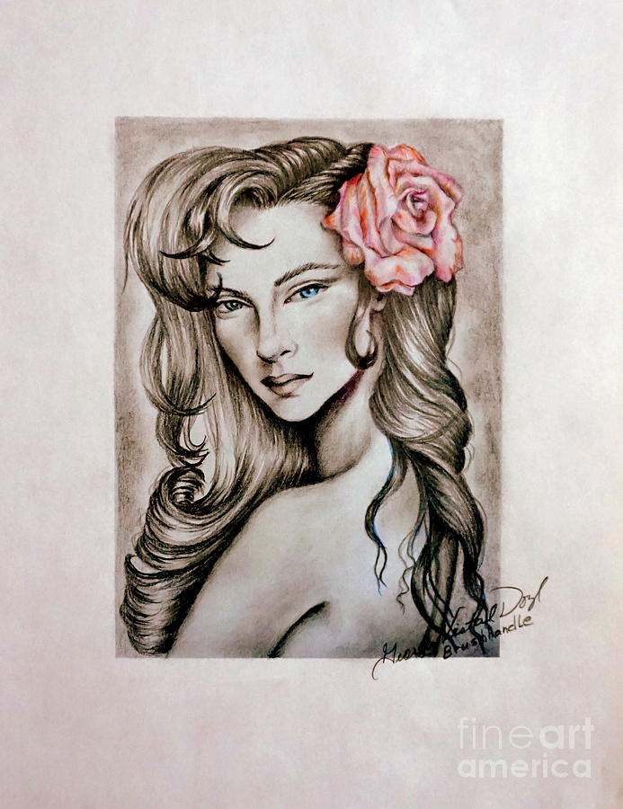 Dusty Rose by Georgia's Art Brush